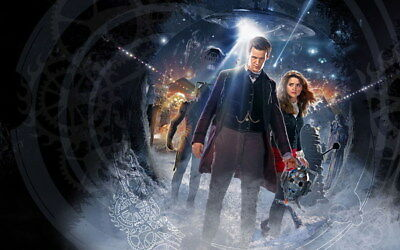 "043 Doctor Who - BBC Space Travel 50th_anniversary Hot TV Show 22""x14"" Poster"