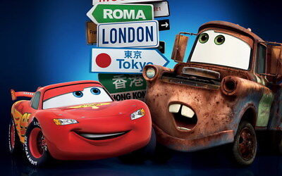 "022 Cars - Pixar Lightning McQueen Cartoon Movie 22""x14"" Poster"