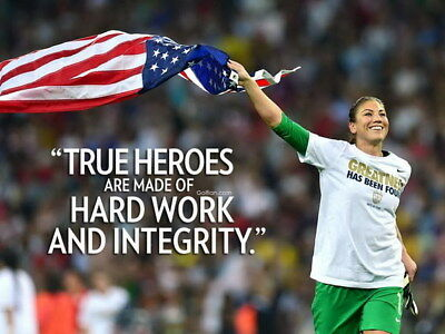 """045 Hope Solo - Team USA Keeper Football Soccer Wowen Olympic 18""""x14"""" Poster"""