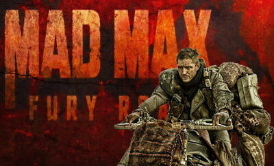 """031 Mad Max 4 Fury Road - Fight Shoot Car USA Movie 23""""x14"""" Poster"""