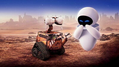 "026 WALL E - Pixar Eve Space Adventure Cartoon Movie 24""x14"" Poster"