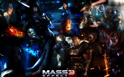 "008 Mass Effect 3 - ME Killer Fighting Shooting Hot TV Game 22""x14"" Poster"