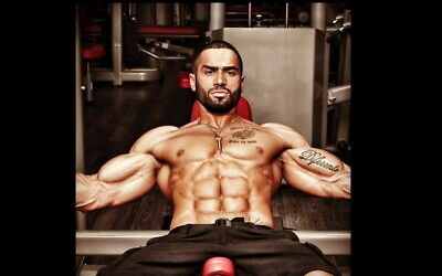 "006 Lazar Angelov - Body Building Great Muscle Player 22""x14"" Poster"