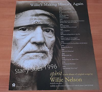 Willie Nelson Spirit 1996 Promo Ad