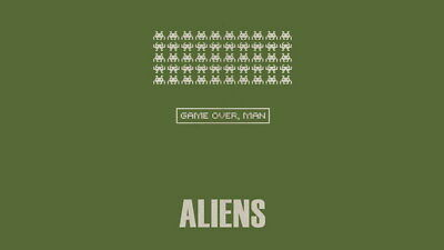 """049 Aliens  - Classic Terror Shooting Space Hot Movie 42""""x24"""" Poster"""