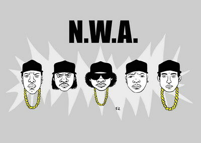 """046 Straight Outta Compton - Ice Cube MC Ren HIPHOP Moive33""""x24"""" Poster"""