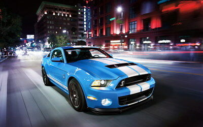 """064 Mustang - Ford Shelby GT500  Classic Racing Car concept 38""""x24"""" Poster"""