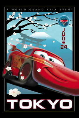 "065 Cars - Pixar Lightning McQueen Cartoon Movie 24""x35"" Poster"