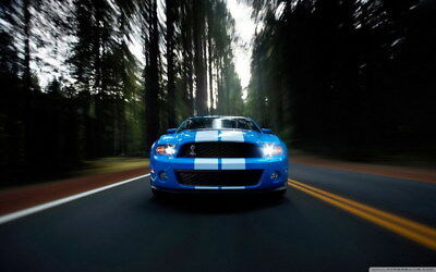 """046 Mustang - Ford Shelby GT500  Classic Racing Car concept 38""""x24"""" Poster"""