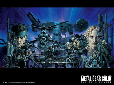 "038 Metal Gear Solid - Snake Rising v the Phantom Pain Game 32""x24"" Poster"
