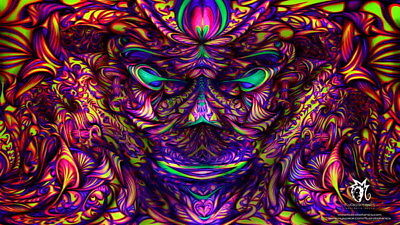 """075 Trippy - Art Print Digital Miscellaneous psychedelic 42""""x24"""" Poster"""