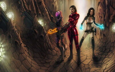 """064 Mass Effect 3 - ME Killer Fighting Shooting Hot TV Game 38""""x24"""" Poster"""