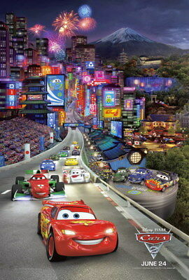 "071 Cars - Pixar Lightning McQueen Cartoon Movie 24""x35"" Poster"