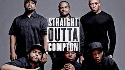 """056 Straight Outta Compton - Ice Cube MC Ren HIPHOP Moive42""""x24"""" Poster"""