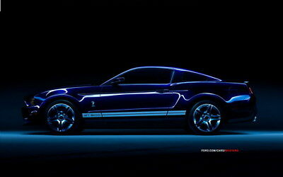 """060 Mustang - Ford Shelby GT500  Classic Racing Car concept 38""""x24"""" Poster"""
