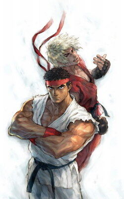 """041 Street Fighter - Fight Ryu Guile Ken ChunLi Game 24""""x38"""" Poster"""