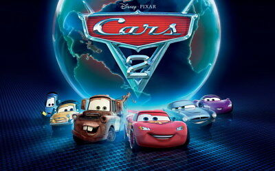 "042 Cars - Pixar Lightning McQueen Cartoon Movie 38""x24"" Poster"
