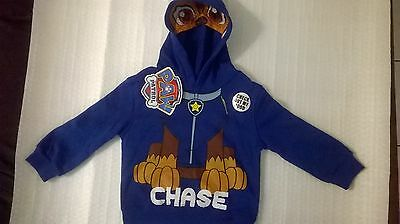 Paw Patrol / Chase / Boys / Hoodie / Sizes 2, 3 and 4.