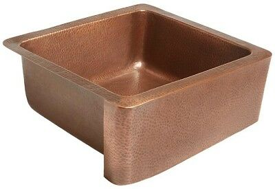 SINKOLOGY Monet Farmhouse Apron Front Handmade Pure Solid Copper 25 in. Single