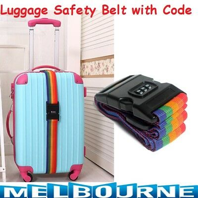 1x Password Travel Luggage Suitcase Secure Lock Safe Nylon Packing Belt Strap
