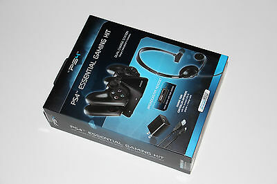 DREAMGEAR Player's Starter Accessories Kit for PS4 - Headset Charger Cable Grip