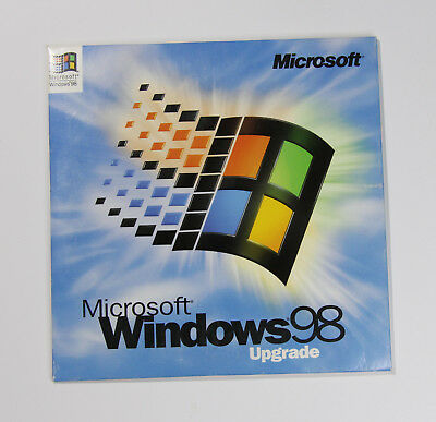 Microsoft Windows 98 Upgrade CD-ROM with Product Key (Sleeve Only - No Box)