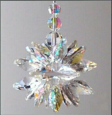 Extra Large Double Cluster Suncatcher Made With Swarovski Crystal - Gift Box