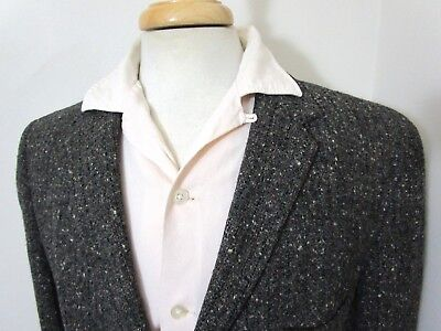 Vtg 50s Atomic Fleck tweed blazer 42 Long ~ Foreman & Clark rockabilly jacket