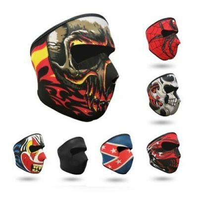 Neoprene FULL Face Reversible Biker Skateboard Motor Bike Scary Sports Mask NEW