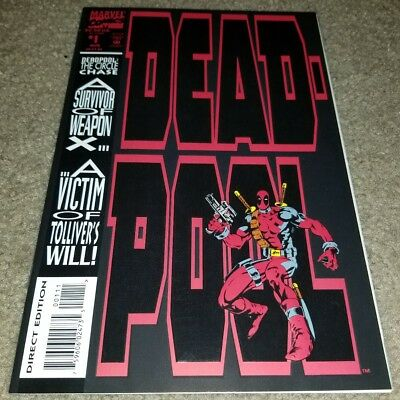 Marvel Comics Deadpool 1 NM+ 9.6 Circle Chase X-men key book 10/93 Movie Coming3