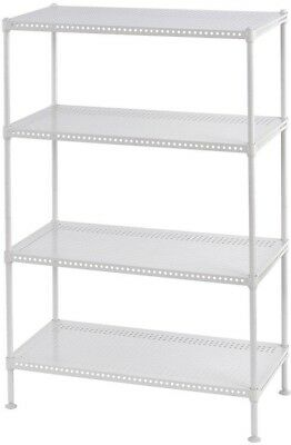 Edsal 35 in. H x 24 in. W x 12 in. D 4-Shelf Perforated Steel Shelving Unit in