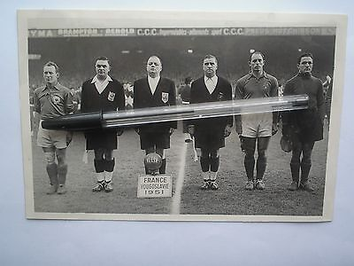 photo BIENVENUE football <<<  FRANCE ROGER MARCHE + DA RUI & YOUGOSLAVIE 1951