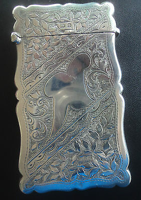 Attractive Sterling Silver Art Nouveau Card Case  Birmingham 1905 C.E. Williams