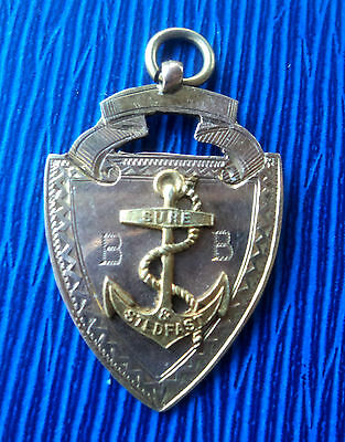 Rare EARLY 9ct Gold Fob Medal - 5th Motherwell Boys Brigade 1920 / 21 Best Boy