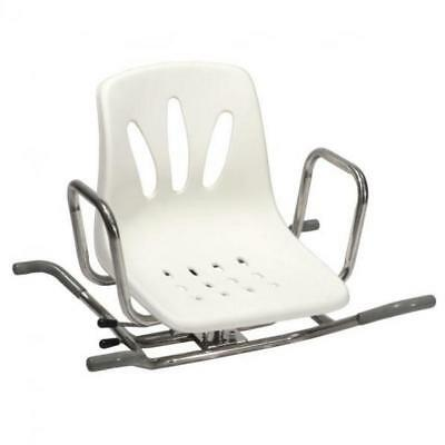 Stainless steel swivel chair for bath