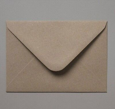 200 C6 Recycled Brown Fleck Kraft Envelopes for A6 Wedding Cards FREE AUS P&P