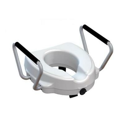Raised toilet seat with removable armrests height cm. 12.5