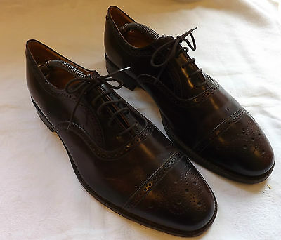 A Pair Of Vintage Men's Tanned Shoes Brogues Boots Made By Jones 1970's (2410)
