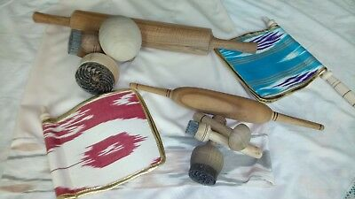 Mother and daughter Complete Kit for Uzbek Bread, chekich, boskich, bread roller