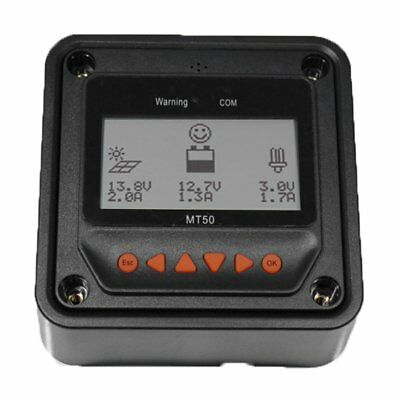 MT-50 Remote Meter LCD Display Device Solar Charge Controller With Backlight M