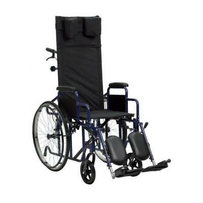 Foldable wheelchair with reclining back-rest