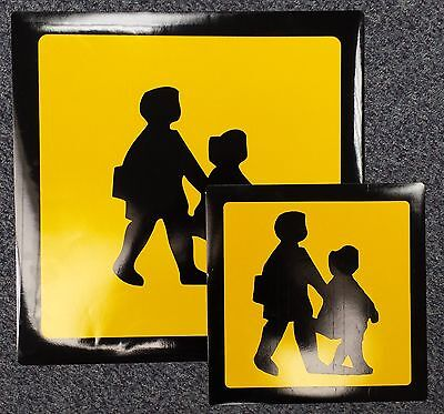 Magnetic School Bus Window Sign Set