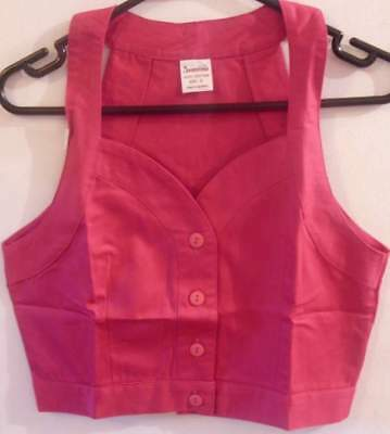Girls Pretty Button Up Crop Top Plain Colours  -Ages 9/10 - 11/12 - 13/15 Years