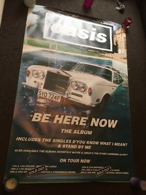 Oasis-Be Here Now(With Tour Dates Below-huge Promo Poster-rare 1997 UK post only