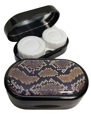 Animal Skin Mirror Case - Contact Lens Soaking Storage Case UK MADE - Snake