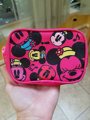 TOKYO DISNEY Parks Resort MINNIE MOUSE Small Coin Purse Ticket Holder Zip Pouch