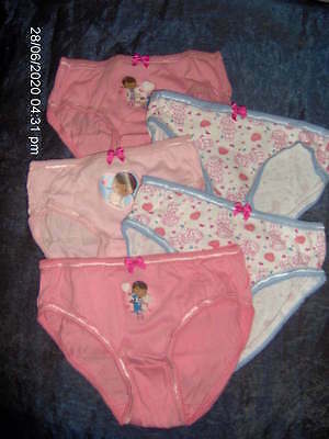 5 PAIR PACK LITTLE GIRLS PINK McSTUFFINS BRIEFS  - AGES 2 -3/4 -4/5 -5/6 YEARS
