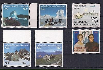 GROENLAND : 6 Timbres grands formats Neufs**