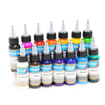 14pc 30ml Professional Tattoo Ink 14 Colors Set 1oz 30ml/Bottle Tattoo Pigment