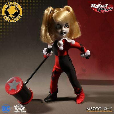 Living Dead Dolls Presents DC Comics Harley Quinn Doll Unmasked Mezco Exclusive